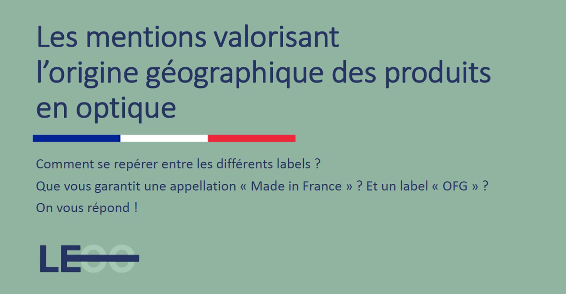 Le syndicat des fabricants français de l'optique ophtalmique LEOO organise un webinaire